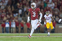 Stanford, CA - September 17, 2016: Noor Davis during the Stanford vs USC football game at Stanford Stadium. The Cardinal defeated the Trojans 27-10.