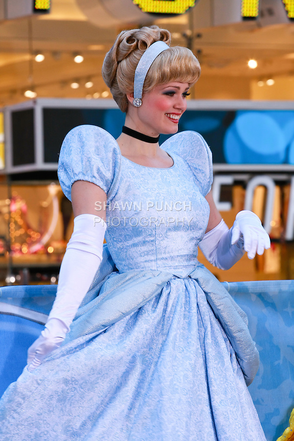 Cinderella attends the Disney Store grand opening in Times Square, November 9, 2010.