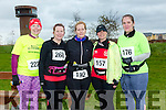 participants who took part in the Kerry's Eye Valentines Weekend 10 mile road race on Sunday were Maeve O'Leary, Anna Sheehy, Helen Fynn, Nina Mansfield and Noreen Moriarty