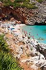 Isolated cove beach at Riserva Naturale dello Zingaro [ Zingaro nature reserve ] Scopello, Castellammare Del Golfo , Sicily.