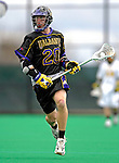14 April 2007: University of Albany Great Danes' Steve Ammann, a Junior from Putnam Valley, NY, in action against the University of Vermont Catamounts at Moulton Winder Field, in Burlington, Vermont. The Great Danes defeated the Catamounts 14-7...Mandatory Photo Credit: Ed Wolfstein Photo