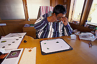 M. Yogi Durlabhji in is office in Jaipur India, is one of the world leader dealer in Emeralds