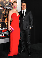 "NEW YORK CITY, NY, USA - MAY 28: Actors Emily Blunt and Tom Cruise arrive at the New York Premiere Of ""Edge Of Tomorrow"" held at AMC Loews Lincoln Square on May 28, 2014 in New York City, New York, United States. (Photo by Celebrity Monitor)"
