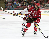 Michael Floodstrand (Harvard - 44), Gavin Bayreuther (SLU - 7) - The Harvard University Crimson defeated the St. Lawrence University Saints 6-3 (EN) to clinch the ECAC playoffs first seed and a share in the regular season championship on senior night, Saturday, February 25, 2017, at Bright-Landry Hockey Center in Boston, Massachusetts.