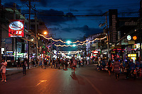 Bangla Road - the walking street on Patong beach in Phuket, Thailand