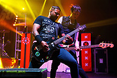 SUM 41 - David Baksh and Jason McCaslin - performing live at the Academy Brixton in London UK - 02 Mar 2017.  Photo credit: Paul Harries/IconicPix