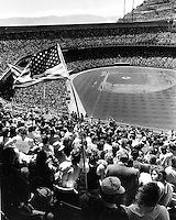 Crowd at Candlestick Park for the opening Day of the 1985 San Francisco Giants season.(photo April 9,1985 by Ron Riesterer)