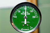 Close up of a pressure meter. Royalty Free