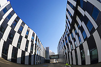 Vienna, Austria. The new WU Campus (University of Economics).<br /> D2 (Departments 2) and SC (Student Center) by Atelier Hitoshi Abe, Sendai.