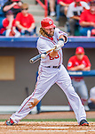 13 March 2016: Washington Nationals outfielder Jayson Werth connects during a pre-season Spring Training game against the St. Louis Cardinals at Space Coast Stadium in Viera, Florida. The teams played to a 4-4 draw in Grapefruit League play. Mandatory Credit: Ed Wolfstein Photo *** RAW (NEF) Image File Available ***