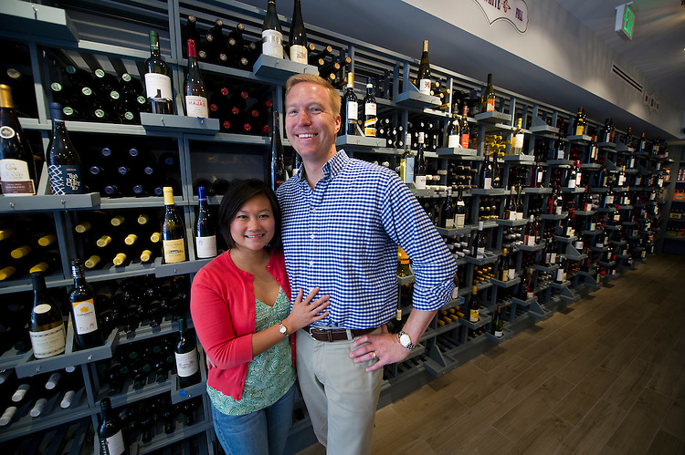 UNITED STATES - July 14: Owners Michael and Michelle Warner at their new wine boutique, DCanter that is opening this week and is located at 545 8th Street, S.E. in Washington, D.C.  (Photo By Douglas Graham/CQ Roll Call)
