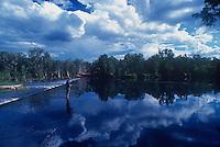 The Roper river crossing into Arnhem Land, Northern Territory, Australia