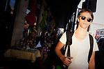 Sondre Lerche walks in downtown Austin, Texas during the 2011 SXSW Music Festival.