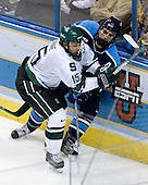 Jeff Dunne (Michigan State - Grover, MO), Josh Soares (University of Maine - Hamilton, ON) - The Michigan State Spartans defeated the University of Maine Black Bears 4-2 in their 2007 Frozen Four semi-final on Thursday, April 5, 2007, at the Scottrade Center in St. Louis, Missouri.