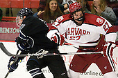 Alex Grieve (Bentley - 23), Petr Placek (Harvard - 27) - The Harvard University Crimson defeated the visiting Bentley University Falcons 5-0 on Saturday, October 27, 2012, at Bright Hockey Center in Boston, Massachusetts.