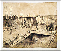 BNPS.co.uk (01202 558833)<br /> Pic: Reeman&amp;Dansie/BNPS<br /> <br /> The interior of an earthen and wooden fort with dead bodies scattered around it.<br /> <br /> Rare photos showing some of the precious antiques looted from China's Summer Palace 156 years ago which Asian millionaires are today buying back in their droves have come to light.<br /> <br /> The images, taken by celebrated photographer Felice Beato soon after the theft, depict Ming vases, pots and bowls made for the Chinese emperor to display at the Imperial palace in Peking.<br /> <br /> The mystical building was partially destroyed by the British and French and its wealth of contents seized and taken to Europe at the end of the Second Chinese Opium War in 1860.<br /> <br /> The beautiful pieces of porcelain are the very objects the newly-rich Chinese are paying British auction houses millions of pounds for now as they attempt to buy back their lost heritage.