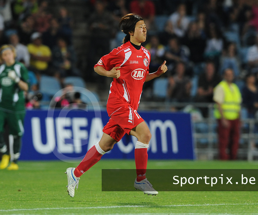 Uefa Women 's Champions League Final 2010 at  Coliseum Alfonso Perez in Getafe , Madrid : Olympique Lyon - Turbine Potsdam : Yuki Nagasato.foto DAVID CATRY / Vrouwenteam.be