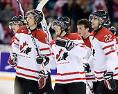 Brayden Schenn (Canada - 10), Ryan Ellis (Canada - 6), Jake Allen (Canada - 1), Jared Cowen (Canada - 22) - Team Canada defeated Team USA 5-4 (SO) on Thursday, December 31, 2009, at the Credit Union Centre in Saskatoon, Saskatchewan, during the 2010 World Juniors tournament.