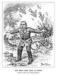 """The Birds Come Home to Roost. """"I cannot do justice to this satanic frightfulness."""" (Goebbels as the devil is incapable of describing the destruction of the bombing of Warsaw, Rotterdam and Coventry)"""