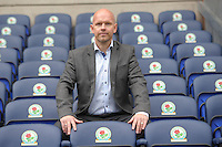 Football-Henning Berg Press Conference-Ewood Park-01/11/2012-Pictures by Paul Currie-Keep-Henning Berg poses after his press conference