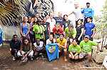 .The Kigali Hash runners and walkers meet before their Saturday run and walk through  village fields outside Kigali.