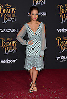 Aimee Carrero at the premiere for Disney's &quot;Beauty and the Beast&quot; at El Capitan Theatre, Hollywood. Los Angeles, USA 02 March  2017<br /> Picture: Paul Smith/Featureflash/SilverHub 0208 004 5359 sales@silverhubmedia.com