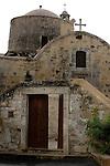 Travel stock photo of Timios Stavros church in Parekklisia village near Limassol in Cyprus Spring 2007 Vertical