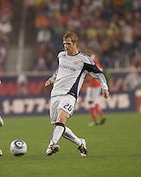 New England Revolution midfielder Pat Phelan (28) at midfield. SL Benfica  defeated New England Revolution, 4-0, at Gillette Stadium on May 19, 2010.