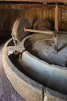 France, Manche (50), Cotentin,Hambye: Abbaye de Hambye, Pressoir à pommes  // France, Manche, Cotentin, Hambye: Hambye abbey  : apple press