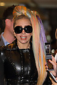"Lady Gaga arrives at Narita Airport, Tokyo, on Tuesday, May 8, 2012. She had her hair rainbow colored and was wearing high heels and sunglasses and a black studded leather jacket..The American singer is in Japan for her ""Lady Gaga/The Born This Way Ball"" world tour and will play four nights at the Saitama Super Arena venue.."