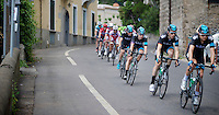 2013 Giro d'Italia .stage 03..Sir Bradley Wiggins (GBR) escorted by his teammates.