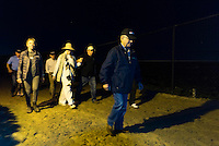 HALLANDALE, FL - JANUARY 27: Art Sherman and entourage, walk to the track for morning workouts, at Gulfstream Park Race Course on January 27, 2017 in Hallandale Beach, Florida. (Photo by Douglas DeFelice/Eclipse Sportswire/Getty Images)