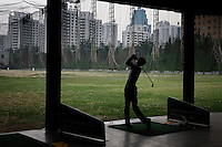 Golf Driving Range.  This is off the Fourth Ring Road..Fixer is Maggie Shen.+86139 1189 4060