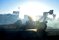 Feb. 17 2012; Chandler, AZ, USA; NHRA top fuel dragster driver Troy Buff during qualifying for the Arizona Nationals at Firebird International Raceway. Mandatory Credit: Mark J. Rebilas-