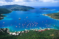 Aerial view of the Gorda Sound<br />