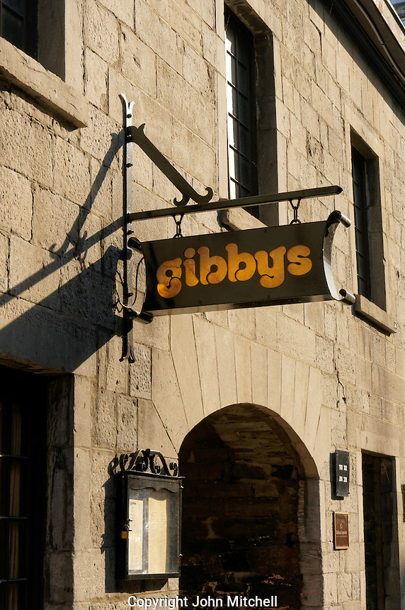 Gibbys restaurant in Old Montreal, Quebec, Canada