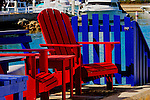 Sunning Chairs & Fence, Balboa, CA