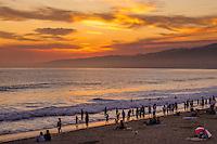 Beach sunset, Santa Monica, California