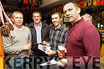 Enjoying the Kilmoyley Fun Race night at McElligott's Bar on Friday were l-r Johnny Flaherty, Tony Flaherty, Jo Murnane and Maurice Murnane
