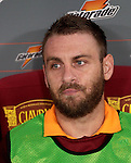 Calcio, Serie A: Roma vs Palermo. Roma, stadio Olimpico, 4 novembre 2012..AS Roma midfielder Daniele De Rossi sits on the bench during the Italian Serie A football match between AS Roma and Palermo, at Rome's Olympic stadium, 4 november 2012..UPDATE IMAGES PRESS/Riccardo De Luca