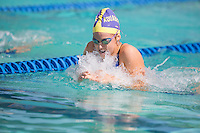 Santa Clara, California - Friday June 3, 2016: Madison Ward competes in the Women's 100 Long Course Meter Breaststroke event at the Arena Pro Swim Series.