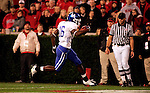 Freshman wide receiver La'Rod King scores a touchdown for Kentucky during the second half of their game against the University of Georgia Bulldogs on Saturday, Nov. 21, 2009 at Sanford Stadium in Athens, Ga. The Cats defeated the Bulldogs 34-27.