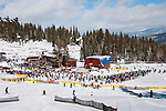 California: Skiers at Northstar at Lake Tahoe, mid-mountain area.    Photo copyright Lee Foster.  Photo # cataho100525
