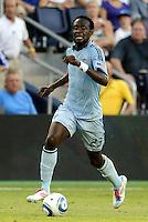 Kei Kamara Sporting KC midfielder in action... Sporting Kansas City defeated Real Salt Lake 2-0 at LIVESTRONG Sporting Park, Kansas City, Kansas.