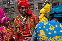 Revellers attend the Holi Hai festival organized by Indian community in New York City March 31, 2013. Photo by Eduardo Munoz Alvarez / VIEWpress.