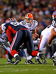 17 November 2008:  Cleveland Browns' quarterback Brady Quinn takes a snap against the Buffalo Bills at Ralph Wilson Stadium in Orchard Park, NY. The Browns defeated the Bills 29-27 in the Monday Night AFC matchup. *** Editorial Sales Only ****..Mandatory Photo Credit: Ed Wolfstein Photo