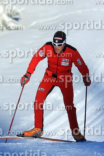 Cross-country skier at Rogla,  on January 17, 2009, in Rogla, Slovenia.  (Photo by Vid Ponikvar / Sportida)