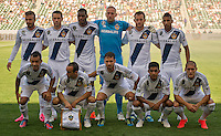 CARSON, CA - June 17, 2012: LA Galaxy starting lineup prior to the LA Galaxy vs Portland Timbers match at the Home Depot Center in Carson, California. Final score LA Galaxy 1, Portland Timbers 0.