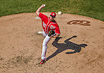 27 April 2014: Washington Nationals pitcher Aaron Barrett on the mound against the San Diego Padres at Nationals Park in Washington, DC. The Padres defeated the Nationals 4-2 to to split their 4-game series. Mandatory Credit: Ed Wolfstein Photo *** RAW (NEF) Image File Available ***