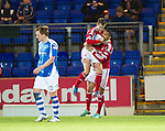 St Johnstone v Aberdeen.....30.01.13      SPL.Niall McGinn celebrates.Picture by Graeme Hart..Copyright Perthshire Picture Agency.Tel: 01738 623350  Mobile: 07990 594431